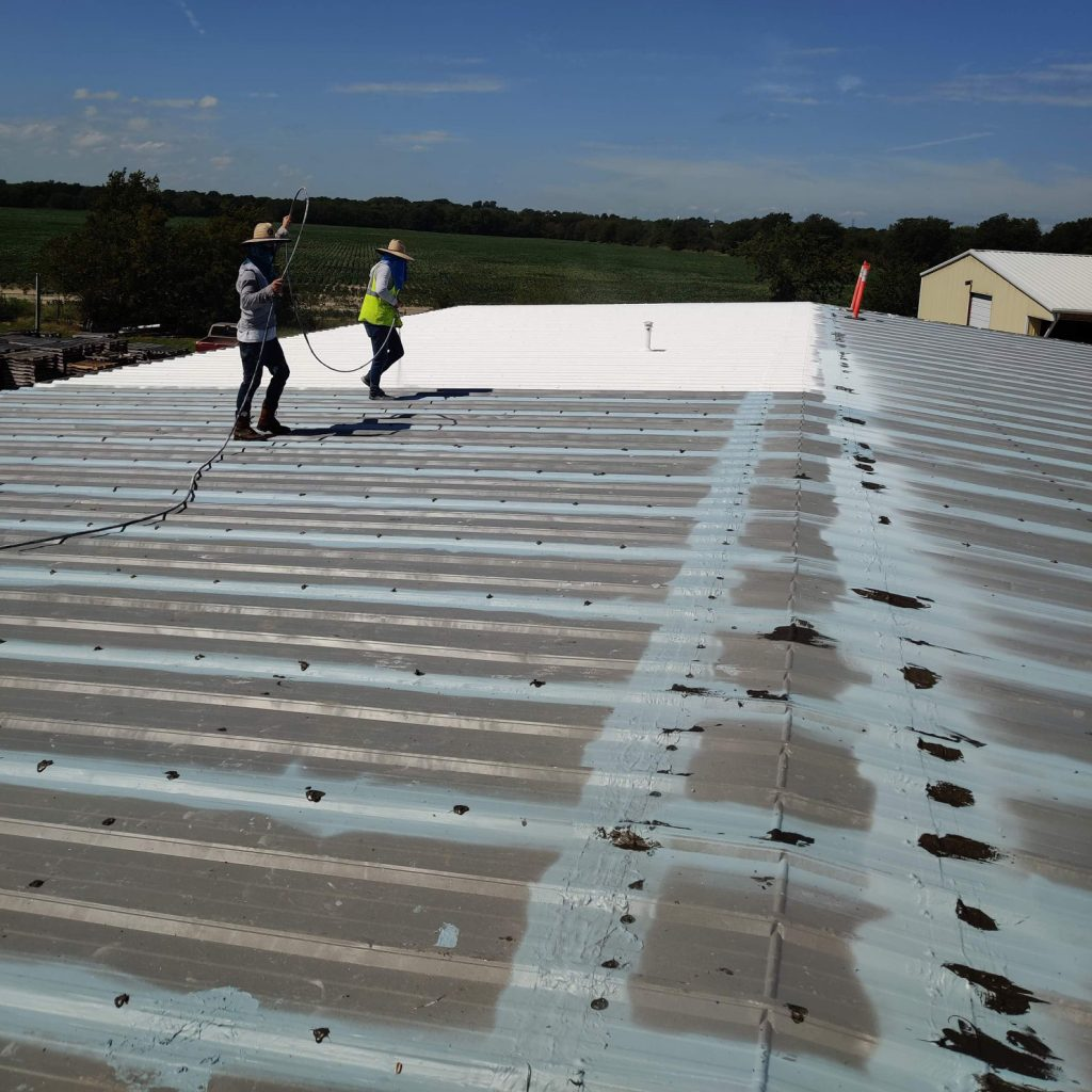 Applying cool roofing